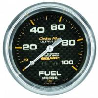 "Fuel Pressure Gauges - Mechanical Fuel Pressure Gauges - Auto Meter - Auto Meter Carbon Fiber Fuel Pressure Gauge - 2-5/8"" - 0-100 PSI"