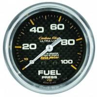 "Analog Gauges - Fuel Pressure Gauges - Auto Meter - Auto Meter Carbon Fiber Fuel Pressure Gauge - 2-5/8"" - 0-100 PSI"