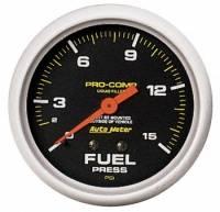 """Sprint Car & Open Wheel - Auto Meter - Auto Meter Pro-Comp Liquid Filled Fuel Pressure Gauge - 2-5/8"""" - 0-15 PSI"""