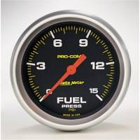 "Fuel Pressure Gauges - Electric Fuel Pressure Gauges - Auto Meter - Auto Meter Pro-Comp Electric Fuel Pressure Gauge - 2-5/8"" - 0-15 PSI"
