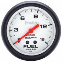 "Fuel Pressure Gauges - Mechanical Fuel Pressure Gauges - Auto Meter - Auto Meter Phantom Fuel Pressure Gauge - 2-5/8"" w/ Isolator - 0-15 PSI"