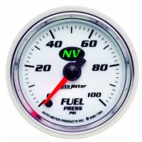 Fuel Pressure Gauges - Electric Fuel Pressure Gauges - Auto Meter - Auto Meter NV Electric Fuel Pressure Gauge - 2-1/16""