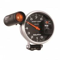 "Standard Tachometers - Pedestal Standard Tachs - Auto Meter - Auto Meter 8,000 RPM Sport-Comp Shift-Lite 5"" Monster Tachometer"