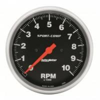 "Standard Tachometers - In-Dash Standard Tachs - Auto Meter - Auto Meter 10,000 RPM Sport-Comp 5"" In-Dash Tachometer"