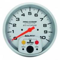 """Memory Tachometers - In-Dash Memory Tachs - Auto Meter - Auto Meter 10,000 RPM Ultra-Lite 5"""" In-Dash Memory Single Range Tachometer w/ Peak RPM Memory"""