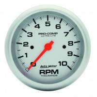 "Standard Tachometers - In-Dash Standard Tachs - Auto Meter - Auto Meter 10,000 RPM Ultra-Lite 3-3/8"" In-Dash Tachometer"