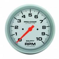 "Standard Tachometers - In-Dash Standard Tachs - Auto Meter - Auto Meter 10,000 RPM Ultra-Lite 5"" In-Dash Tachometer"