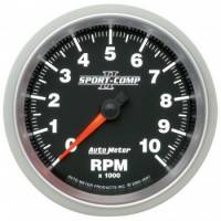 "Gauges - Oil Temp Gauges - Auto Meter - Auto Meter 3-3/8"" Sport-Comp II In-Dash Tachometer - 10,000 RPM"
