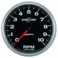 """Standard Tachometers - In-Dash Standard Tachs - Auto Meter - Auto Meter 5"""" Sport-Comp II In-Dash Tachometer - 10,000 RPM"""