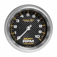 "Standard Tachometers - In-Dash Standard Tachs - Auto Meter - Auto Meter 10,000 RPM Carbon Fiber 3-3/8"" In-Dash Tachometer"