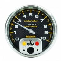 """Memory Tachometers - In-Dash Memory Tachs - Auto Meter - Auto Meter 10,000 RPM Carbon Fiber 5"""" In-Dash Memory Tachometer w/ Peak RPM Memory"""