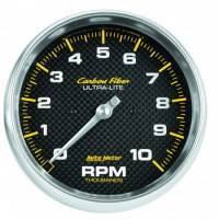 "Analog Gauges - Tachometers - Auto Meter - Auto Meter 10,000 RPM 5"" Carbon Fiber In-Dash Tachometer"