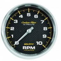 "Standard Tachometers - In-Dash Standard Tachs - Auto Meter - Auto Meter 10,000 RPM 5"" Carbon Fiber In-Dash Tachometer"