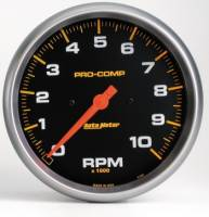 "Standard Tachometers - In-Dash Standard Tachs - Auto Meter - Auto Meter 10,000 RPM Pro-Comp In-Dash 5"" Monster Tachometer"