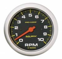 "Analog Gauges - Tachometers - Auto Meter - Auto Meter 10,000 RPM Pro-Comp 3-3/8"" In-Dash Tachometer"