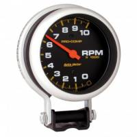 "Standard Tachometers - Pedestal Standard Tachs - Auto Meter - Auto Meter 10,000 RPM Pro-Comp Tachometer - 3-3/4"""