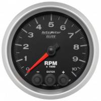 Tachometers - Shift Light Tachometers - Auto Meter - Auto Meter Elite Series Tachometer - 3-3/8 in.