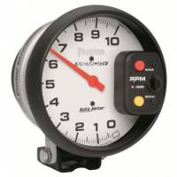 "Memory Tachometers - Pedestal Memory Tachs - Auto Meter - Auto Meter Phantom Memory Tachometer - 5"" - 10,000 RPM Pedestal Mount"