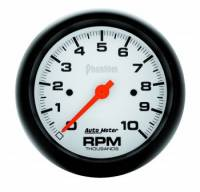 "Standard Tachometers - In-Dash Standard Tachs - Auto Meter - Auto Meter 3-3/8"" Phantom In-Dash Single Range Tachometer - 10000 RPM"