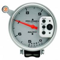 "Memory Tachometers - Pedestal Memory Tachs - Auto Meter - Auto Meter 9,000 RPM Ultra-Lite Pro-Comp II Monster Tachometer - 5"" - Dual Range Tach"