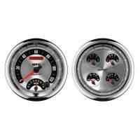 Gauges & Dash Panels - Gauge Kits - Analog - Auto Meter - Auto Meter American Muscle Quad Gauge / Tach / Speedometer Kit - 5 in.
