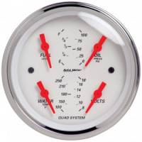 Gauges - Quad Gauges - Auto Meter - Auto Meter Arctic White Quad Gauge - 3-5/8 in.