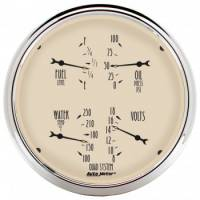 Gauges - Quad Gauges - Auto Meter - Auto Meter Antique Beige Quad Gauge - 5 in.