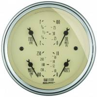 Gauges - Quad Gauges - Auto Meter - Auto Meter Antique Beige Quad Gauge - 3-5/8 in.