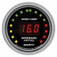 Digital Gauges - Digital Air/Fuel Ratio Gauges - Auto Meter - Auto Meter Sport-Comp Wide Band Air / Fuel Ratio Kit - 2-1/16 in.