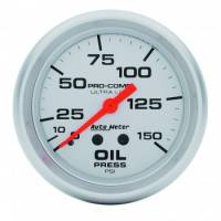 "Gauges & Gauge Panels - Oil Pressure Gauge - Auto Meter - Auto Meter Ultra-Lite Oil Pressure Gauge - 2-5/8"" - 0-150 PSI"