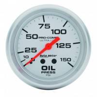 "Sprint Car & Open Wheel - Auto Meter - Auto Meter Ultra-Lite Oil Pressure Gauge - 2-5/8"" - 0-150 PSI"