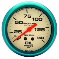 "Gauges & Gauge Panels - Oil Pressure Gauge - Auto Meter - Auto Meter Ultra-Nite Oil Pressure Gauge - 2-5/8"" - 0-150 PSI"