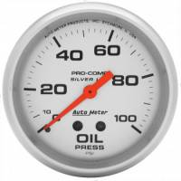 "Gauges - Oil Pressure Gauges - Auto Meter - Auto Meter Liquid-Filled Oil Pressure Gauges - 2-5/8"" - 0-100 PSI"