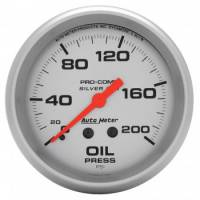 "Gauges - Oil Pressure Gauges - Auto Meter - Auto Meter Liquid-Filled Oil Pressure Gauges - 2-5/8"" - 0-200 PSI"
