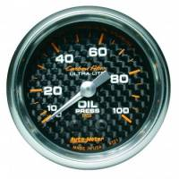 "Oil Pressure Gauges - Mechanical Oil Pressure Gauges - Auto Meter - Auto Meter Carbon Fiber Oil Pressure Gauge - 2-1/16"" - 0-100 PSI"
