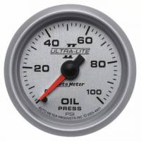 "Oil Pressure Gauges - Mechanical Oil Pressure Gauges - Auto Meter - Auto Meter 2-1/16"" Ultra-Lite II Oil Pressure Gauge - 0-100 PSI"
