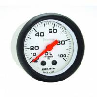 "Gauges - Oil Pressure Gauges - Auto Meter - Auto Meter Phantom 2-1/16"" Oil Pressure Gauge - 0-100 PSI"