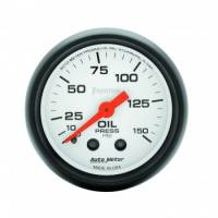 "Gauges - Oil Pressure Gauges - Auto Meter - Auto Meter Phantom Oil Pressure Gauge - 2-1/16"" - 0-150 PSI"