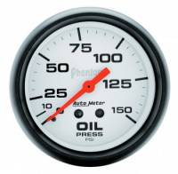 "Gauges & Gauge Panels - Oil Pressure Gauge - Auto Meter - Auto Meter Phantom Oil Pressure Gauge - 2-5/8"" - 0-150 PSI"