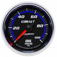 Oil Pressure Gauges - Mechanical Oil Pressure Gauges - Auto Meter - Auto Meter Cobalt Mechanical Oil Pressure Gauge - 2-1/16""