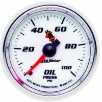 Oil Pressure Gauges - Mechanical Oil Pressure Gauges - Auto Meter - Auto Meter C2 Mechanical Oil Pressure Gauge - 2-1/16""