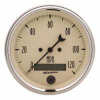 Speedometers - Electric Speedometers - Auto Meter - Auto Meter Antique Beige Electric Programmable Speedometer - 3-3/8 in.