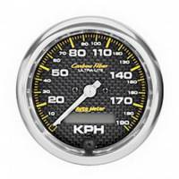 Speedometers - Electric Speedometers - Auto Meter - Auto Meter Carbon Fiber In-Dash Electric Speedometer - 2-5/8 in.