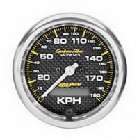 Analog Gauges - Speedometers - Auto Meter - Auto Meter Carbon Fiber In-Dash Electric Speedometer - 2-5/8 in.