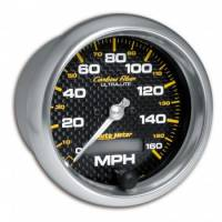 Speedometers - Electric Speedometers - Auto Meter - Auto Meter Carbon Fiber In-Dash Electric Speedometer - 3-3/8 in.
