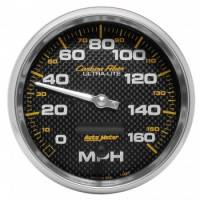 Speedometers - Electric Speedometers - Auto Meter - Auto Meter Carbon Fiber In-Dash Electric Speedometer - 5 in.