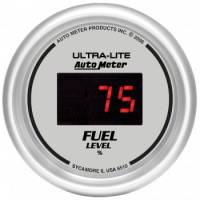 Gauges - Digital Fuel Level Gauge - Auto Meter - Auto Meter Ultra-Lite Digital Programmable Fuel Level Gauge - 2-1/16 in.