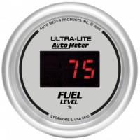 Digital Gauges - Digital Fuel Level Gauge - Auto Meter - Auto Meter Ultra-Lite Digital Programmable Fuel Level Gauge - 2-1/16 in.
