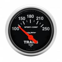 "Transmission Temp Gauges - Electric Transmission Temp Gauges - Auto Meter - Auto Meter 2-1/16"" Mini Sport-Comp Electric Transmission Temperature Gauge - 100°-250°"