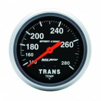 Analog Gauges - Transmission Temperature Gauges - Auto Meter - Auto Meter 140-280  Sport-Comp Transmission Temperature Gauge - 2-5/8""